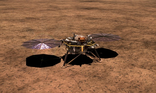 NASA's InSight Lander on Mars deploys seismometer to study Marsquakes